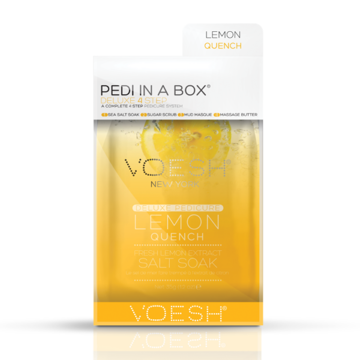Pedi in a box, lemon quench