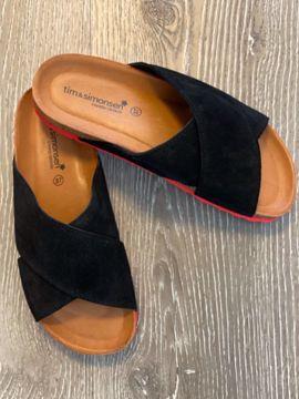 Anett sort sandal