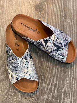 Annet sandal med snake print