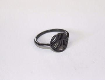 Ring oxy sølv 12 mm plade